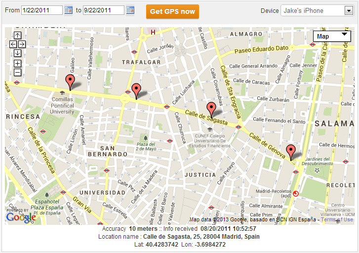 Way 3: Use TheTruthSpy application to track the location of your phone