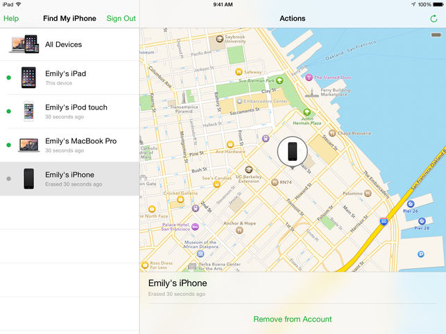 Find your phone with iCloud